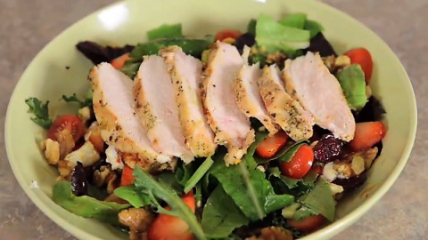 Favorite Chicken Salad (with Balsamic Vinaigrette Dressing)