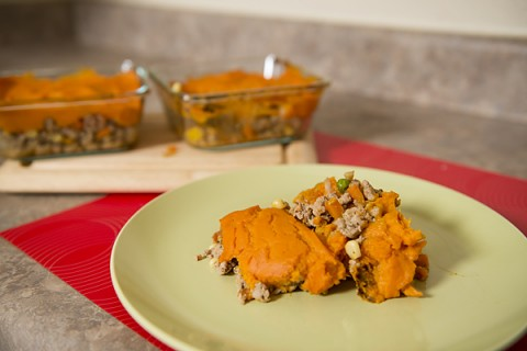 Shepherd's Pie with Turkey and Yams