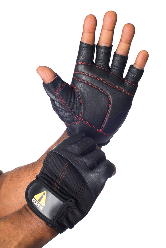 Leather Fitness Gloves Power Grip by Ucgym