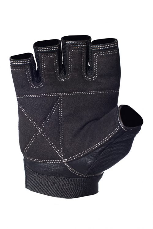Black Leather Workout Gloves Ultimate Grip by Ucgym