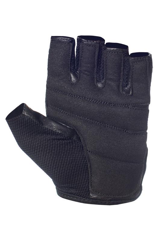 UCGYM women black leather workout gloves