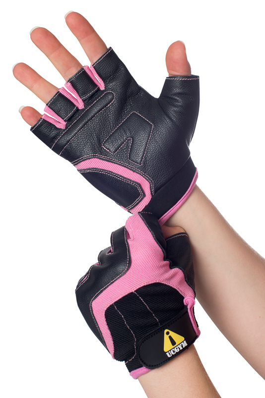 Leather Women Gloves for Lifting, Gym, Crossfit, Biking