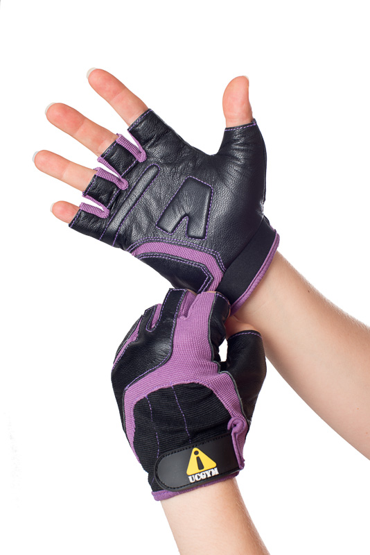 UCgym Purple Lady Fit Lightweight Workout Gloves