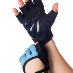 UCgym Miss Fit Blue Workout Gloves for Women