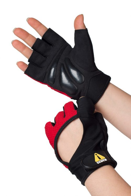 UCgym Miss Fit Red Workout Gloves for Women