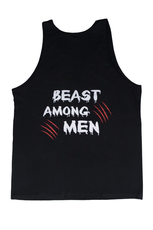 UCgym Beast Among Men Black Tank - Men Gym Workout Clothing
