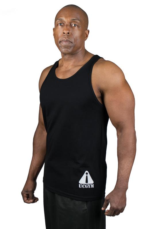 UCgym Beast Among Men Black Tank - Men Workout Clothing