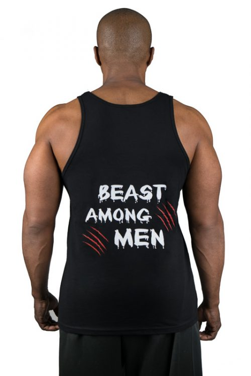 UCgym Beast Among Men Black Tank - Men Clothing for gym and workout