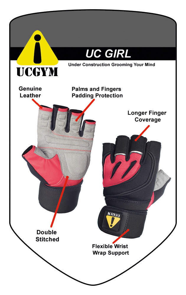 UC Girl Women Workout Gloves with Wrist Wraps by UCGYM