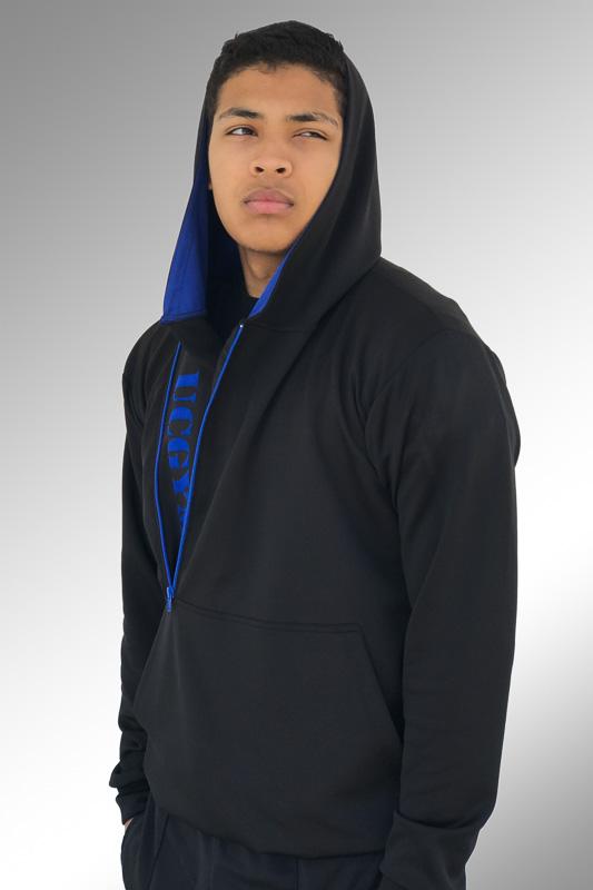 UCgym Menu0026#39;s Black/Blue Size Zipper Hoodie - Menu0026#39;s Clothing - Shop Online