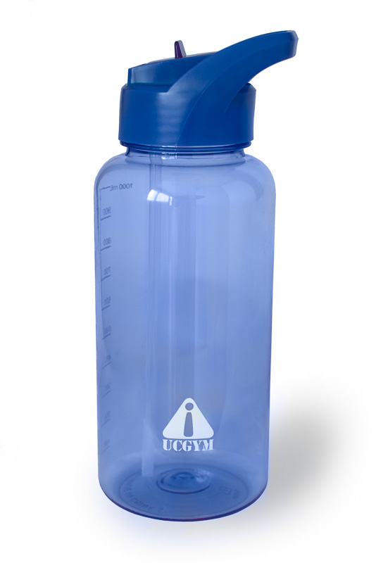 Sport Water bottle with straw, bite valve and handle