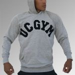 Grey Hoodie - UCGYM with patches