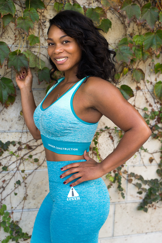 Ucgym fitness workout set yoga pants and sports bra