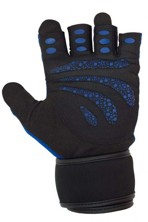 Workout Gloves by Ucgym - Blue Beast Among Men with Wrist Wraps