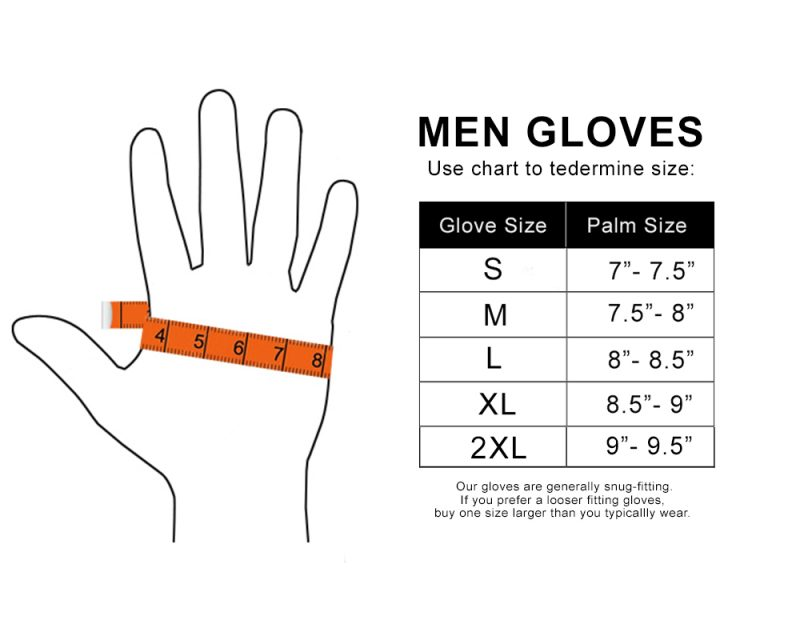 Men Workout Gloves Size