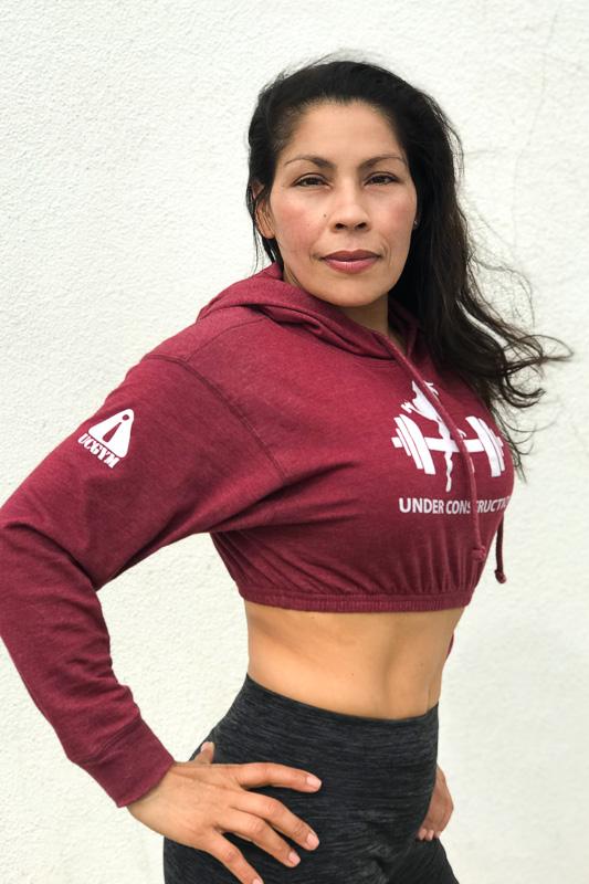 Ucgym crop top hoodie