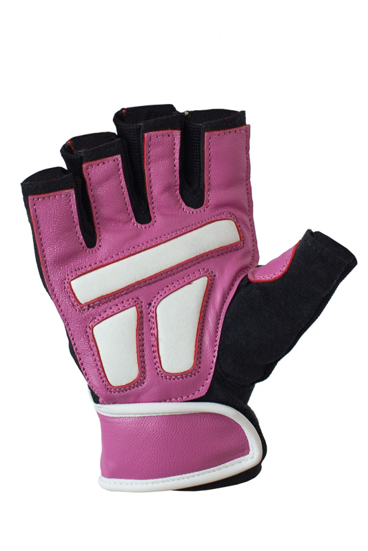 Ucgym women pink leather workout gloves